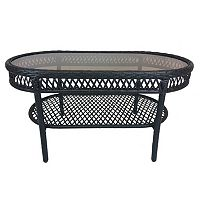 Elite Resin Wicker Outdoor Coffee Table