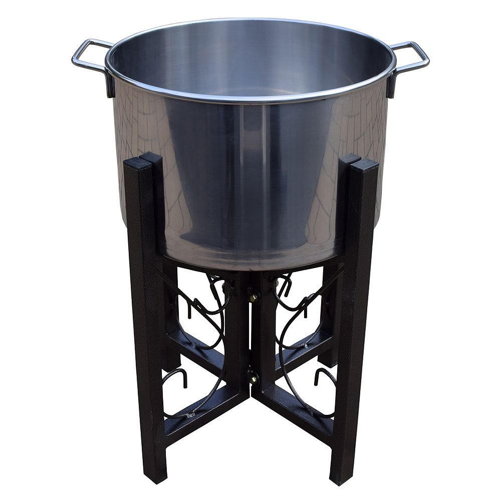 Stainless Steel 14-inch Ice Bucket & Stand