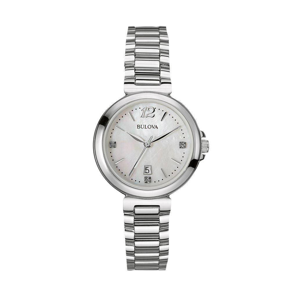 Bulova Women's Diamond Stainless Steel Watch - 96P149