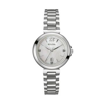 Bulova Women's Diamond Stainless Steel Watch - 96P149
