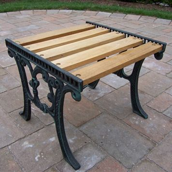 Wooden Outdoor End Table