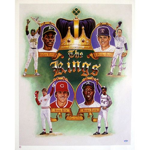 Steiner Sports Nolan Ryan Kings of Baseball Autographed Poster