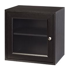 Creative Ware Home Storage Cube with Glass Door & Adjustable Shelf