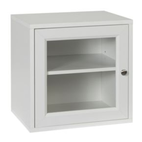 Creative Ware Home Storage Cube with Glass Door and Adjustable Shelf
