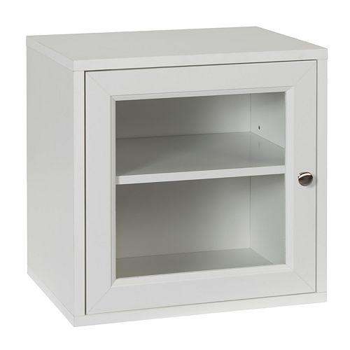 Creative Ware Home Storage Cube with Glass Door & Adjustable Shelf