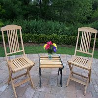 Wooden Outdoor Folding Event Chair 3 pc Set