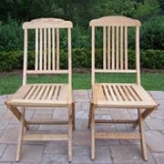 Wooden Outdoor Folding Event Chair 2 pc Set