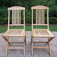 Wooden Outdoor Folding Event Chair 2-piece Set