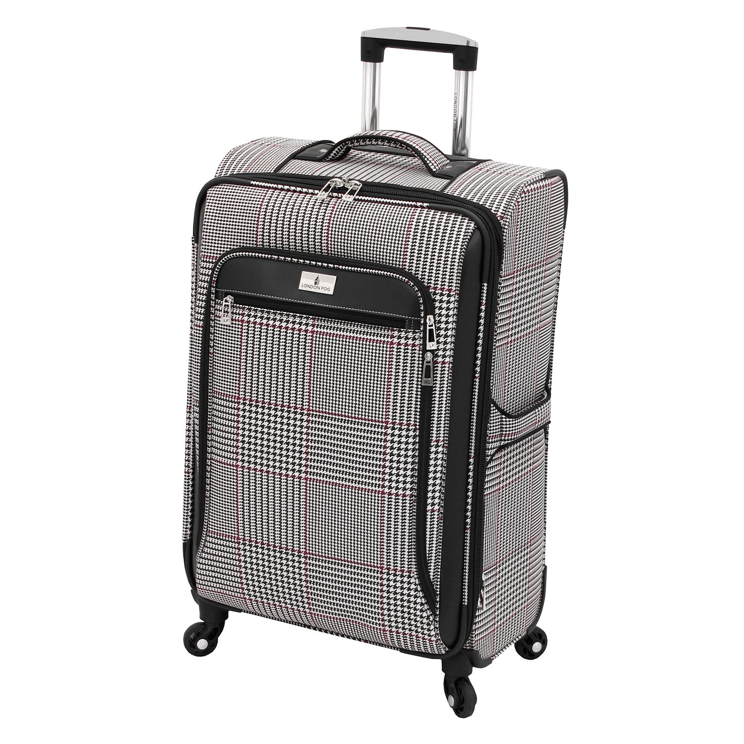 london fog andover houndstooth 25inch spinner luggage - London Fog Luggage