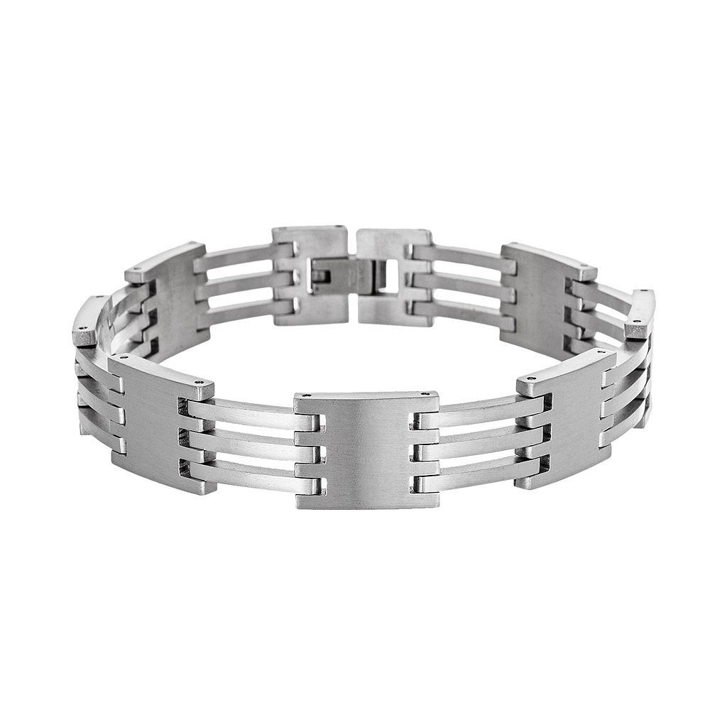 Stainless Steel Square Bracelet - Men