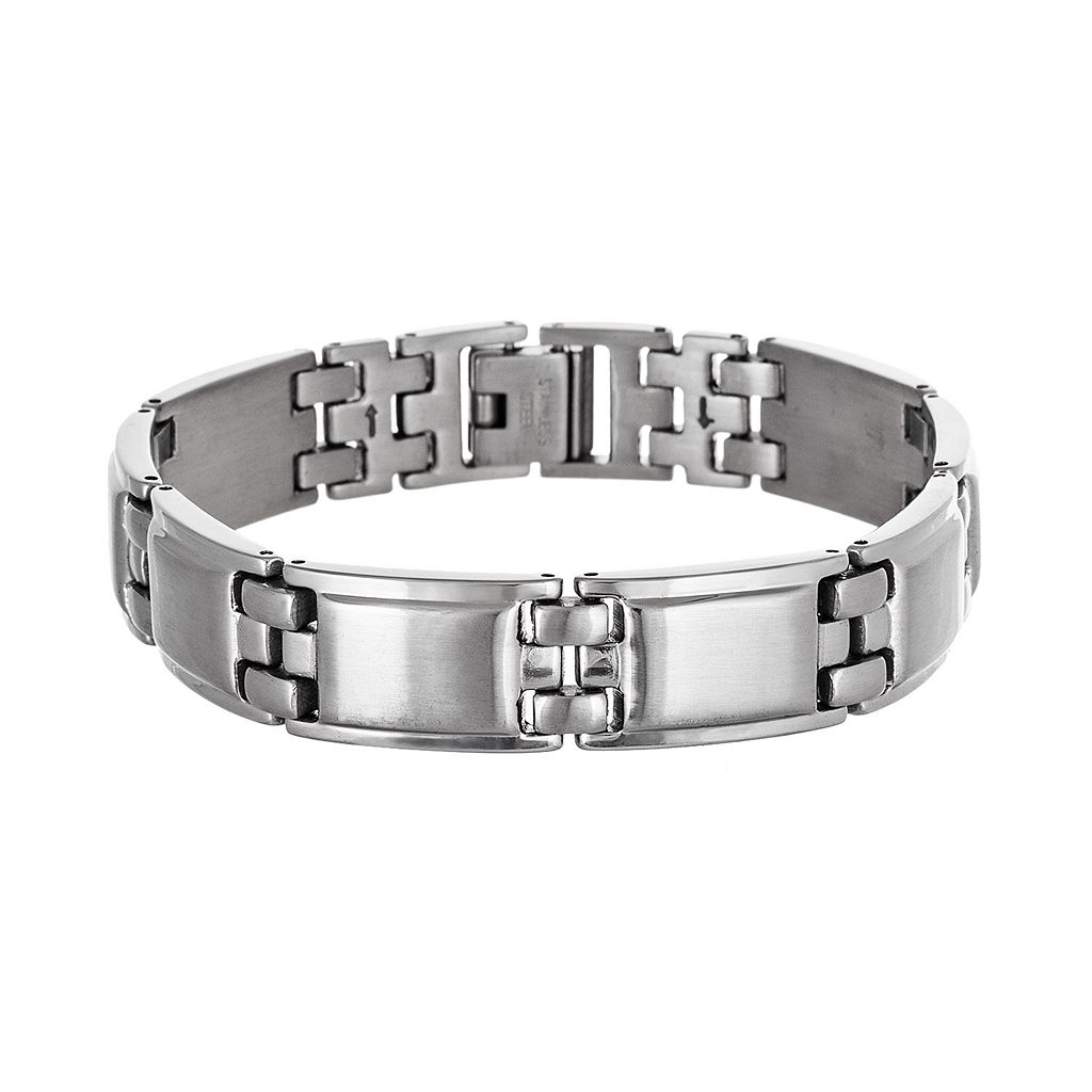 Stainless Steel Rectangle Bracelet - Men