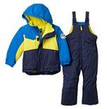 ZeroXposur Colorblock Heavyweight Jacket & Bib Snow Pants Set - Toddler