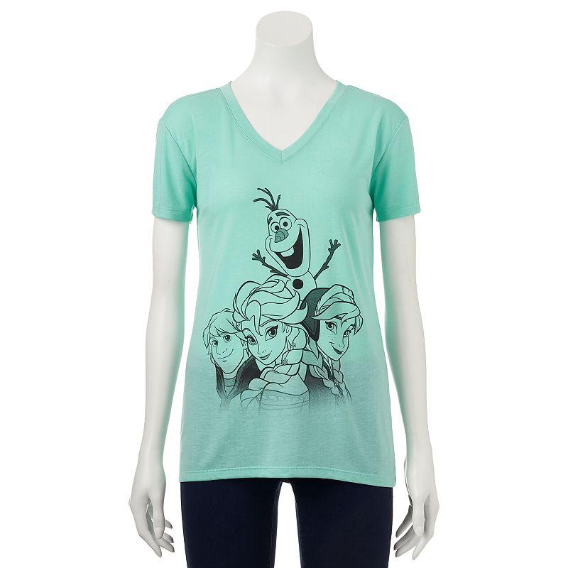 Disney Frozen V-Neck Tee - Juniors (Green)