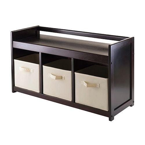 Winsome Addison 4-piece Storage Bench