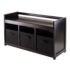 Winsome Addison 4-piece Storage Bench
