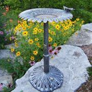 Outdoor Sunflower Butterfly Bird Bath