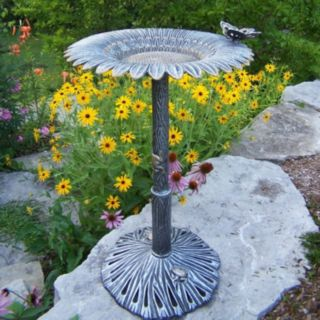 Outdoor Sunflower Butterfly Bird Bath