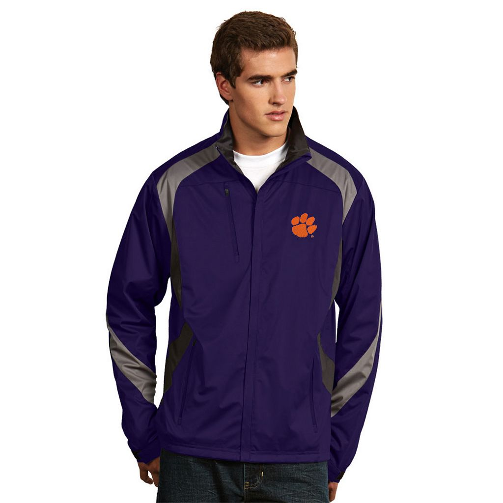 Men's Antigua Clemson Tigers Tempest Desert Dry Xtra-Lite Performance Jacket