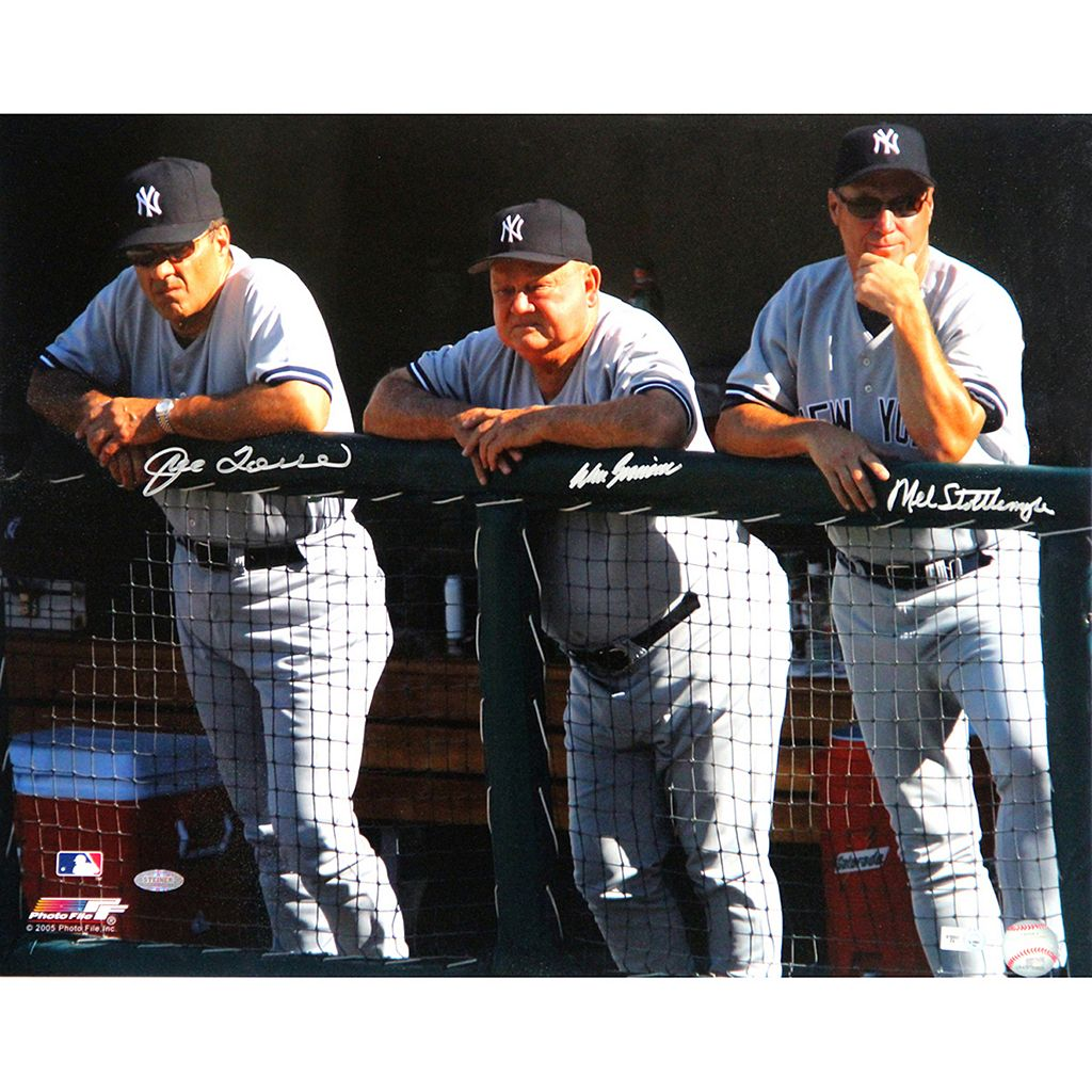 Steiner Sports New York Yankees Joe Torre, Don Zimmer and Mel Stottlemyre Dugout 16'' x 20'' Signed Photo