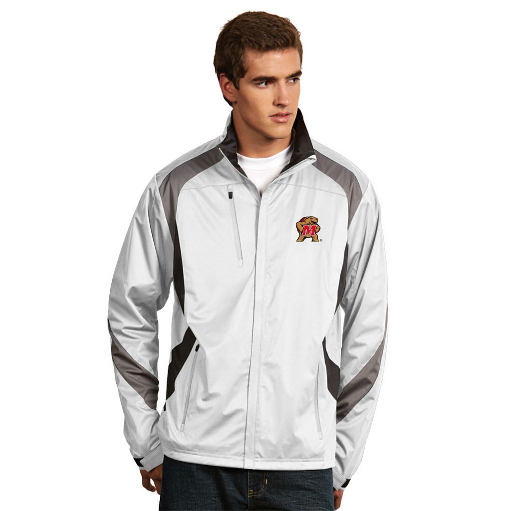 Men's Antigua Maryland Terrapins Tempest Desert Dry Xtra-Lite Performance Jacket