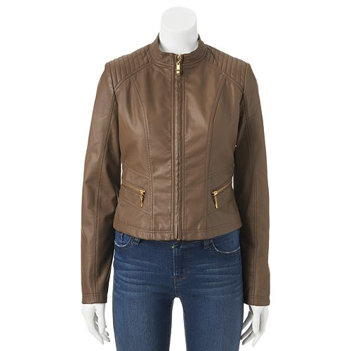 d9235b8d4 Therapy Washed Faux-Leather Jacket - Juniors