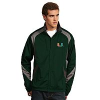 Men's Antigua Miami Hurricanes Tempest Desert Dry Xtra-Lite Performance Jacket