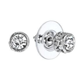 1928 Simulated Crystal Round Stud Earrings