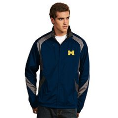 Men's Antigua Michigan Wolverines Tempest Desert Dry Xtra-Lite Performance Jacket
