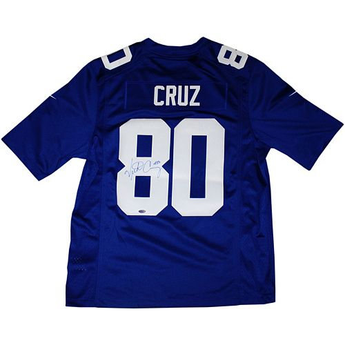 Steiner Sports New York Giants Victor Cruz Blue Autographed Jersey