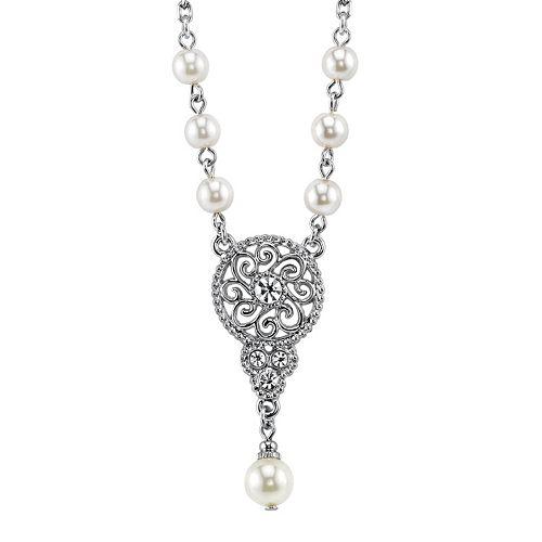 1928 Openwork Y Necklace