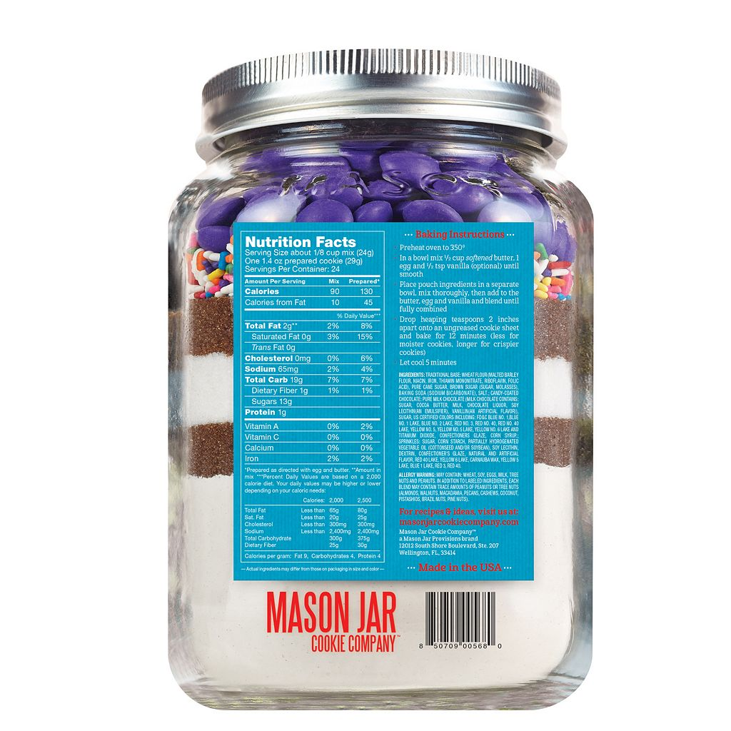 Mason Jar Cookie Company 20.2-oz. Pouch Festive Celebrate! Cookie Mix