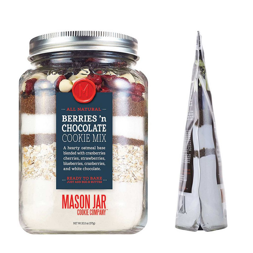 Mason Jar Cookie Company 20.2-oz. Pouch Berries 'n Chocolate Cookie Mix