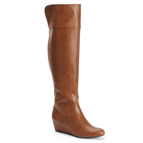 8fcde932fb5 Jennifer Lopez Hidden Wedge Over-the-Knee Boots - Women s