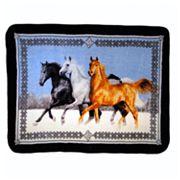 Horses Running Hi Pile Luxury Throw