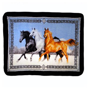 Horses Running Hi Pile Luxury Throw
