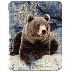 Relaxing Bear Hi Pile Luxury Throw