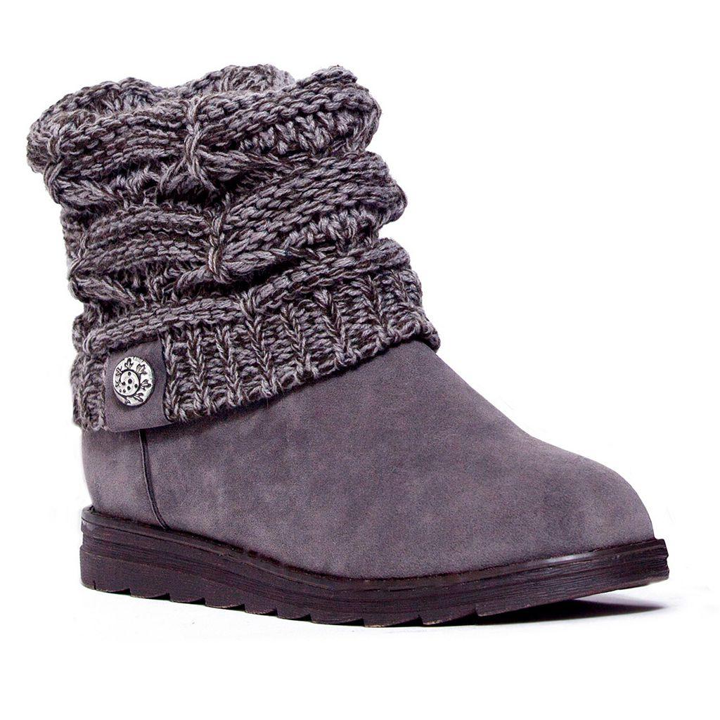 MUK LUKS Patti Women's Knit-Cuff Ankle Boots