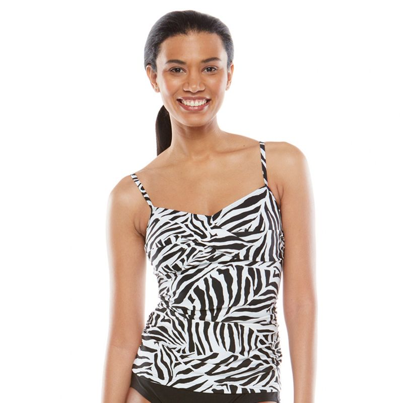 Croft & Barrow Fit For You Bust Enhancer Tankini Top - Women's