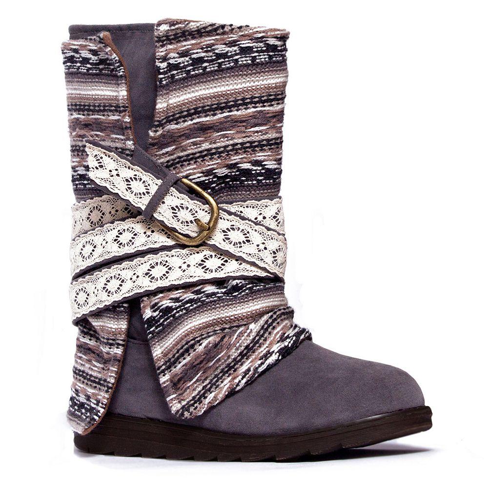 MUK LUKS Nikki Women's Fold-Over Midcalf Boots