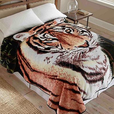 Tiger Hi Pile Luxury Blanket - 90'' x 90''