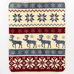 Reindeer Stripe Hi Pile Luxury Throw