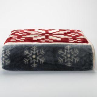 Reindeer Stripe Hi Pile Luxury Throw