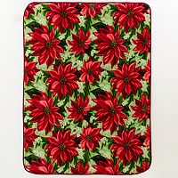 Poinsettia Hi Pile Luxury Throw
