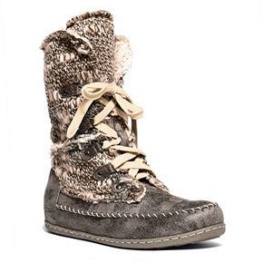 MUK LUKS Lily Women's Lace-up ... Midcalf Boots rj5NaoX2Jw
