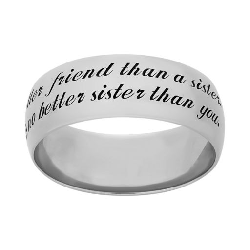 Sterling Silver '' Sister'' Ring