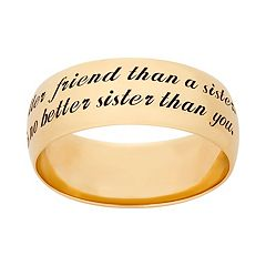 14k Gold Over Silver 'Sister' Ring