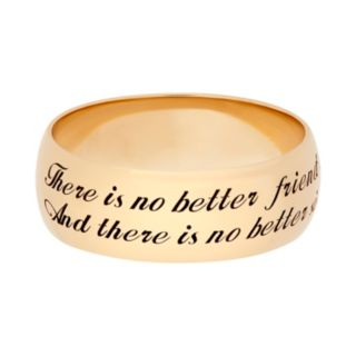 """14k Gold Over Silver """"Sister"""" Ring"""