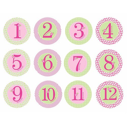Pearhead Baby Milestone First Year Belly Stickers