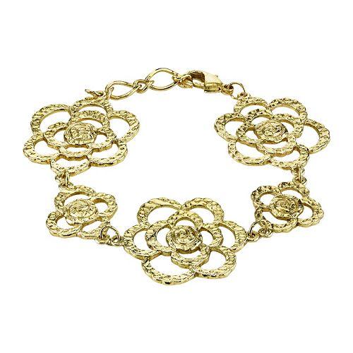 1928 Hammered Flower Bracelet