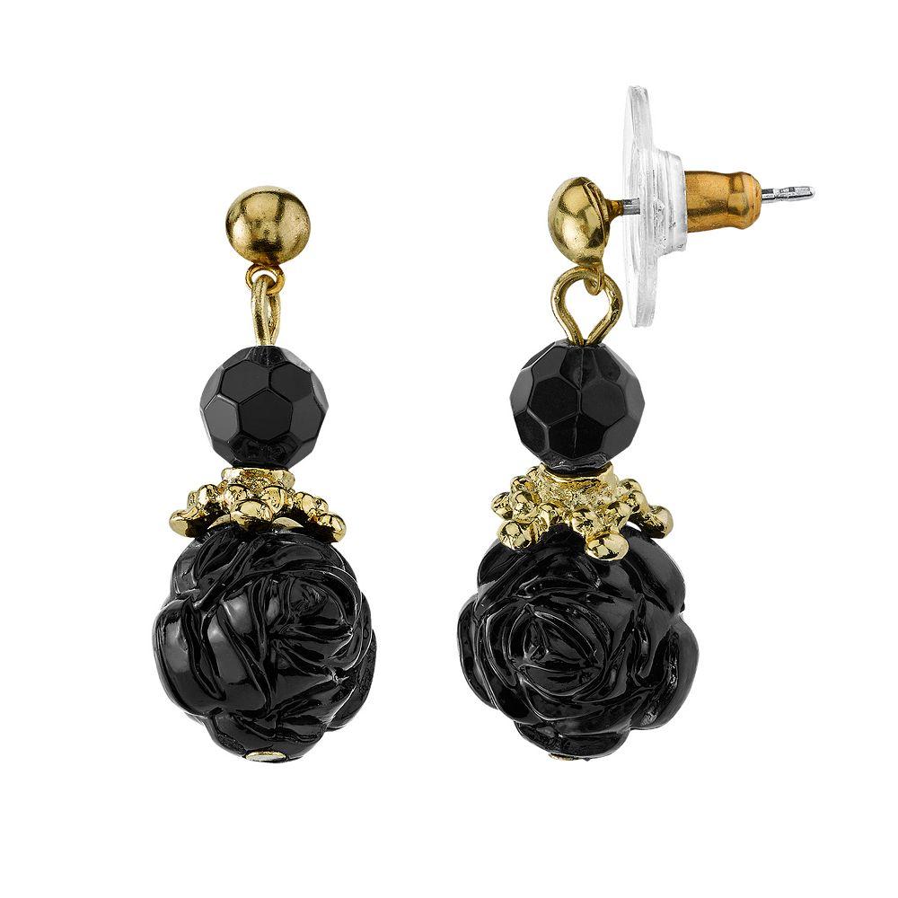 1928 Flower Ball Drop Earrings